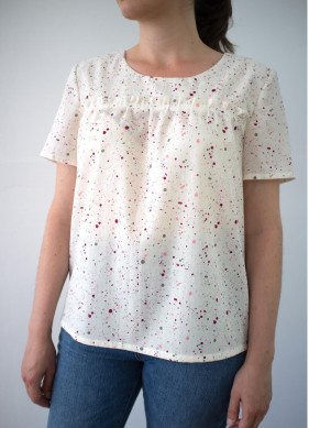patron couture blouse polka wissew