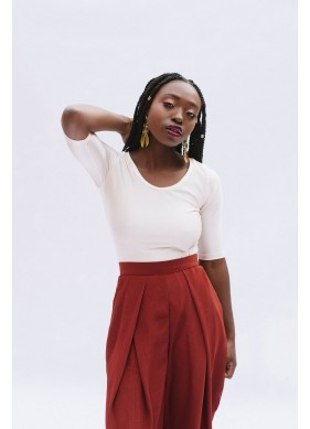 sewing pattern frances white top
