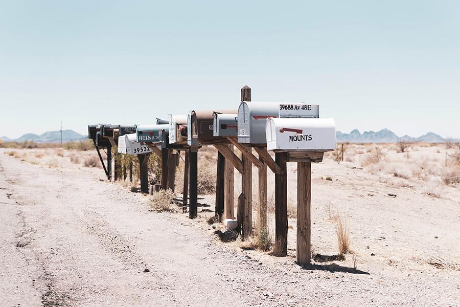 Série de boîtes aux lettres